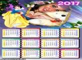 Calendário 2017 Linda Boneca de Neve
