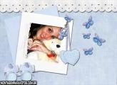 Moldura Chupeta Bebê Azul
