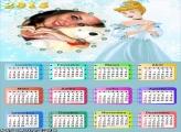 Calendário 2015 da Cinderela