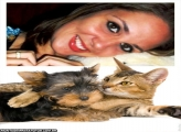 Moldura Abraço Cão com Gato