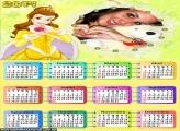 Calendário Princesa Disney