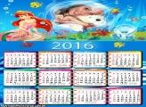 Calendário Infantil 2016 Princesa Ariel