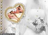 Coração Decorado com Dourado
