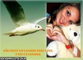 Moldura Pássaro Branco