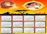Calendário Rei Leão 2016 Desenho