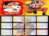 Calendário 2017 do Naruto