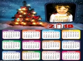Emoldurar Calendário 2018 Árvore Natal