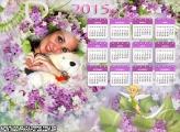 Calendário 2015 Flores
