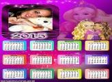Calendário 2015 Barbie Loira