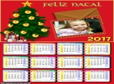 Calendário 2017 Cartão para Papai Noel