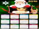 Calendário 2018 do Papai Noel Desenho