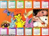 Calendário dos Pokémons 2016