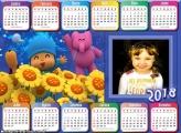 Calendário 2018 Horizontal do Pocoyo Infantil