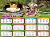 Calendário 2018 Rapunzel Enrolados FIlme