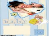Moldura Coração Azul Bebê