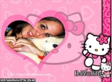 Moldura Amo Hello Kitty