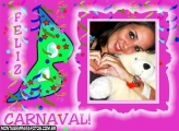 Moldural Carnaval Rosa Verde