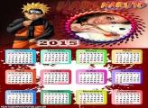 Calendário 2015 Desenho Naruto