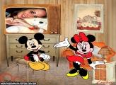 Moldura TV Mickey e Minnie