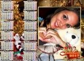 Calendário 2017 Rena e Treno do Papai Noel