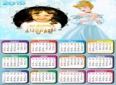 Calendário 2018 Princesa Cinderela