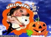 Bruxa e Abóbora de Halloween
