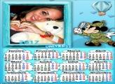 Calendário 2017 Mickey Caçador Safari