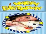 Happy Birthday com Estrelinhas