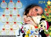 Natal do Mickey 2014 Calendário