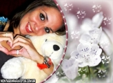Moldura Flor Branca da Noiva