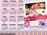 Calendário 2014 Rosa Menina