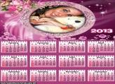 Calendário Flores Românticas