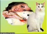 Moldura Gato Branco