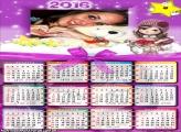 Calendário Menina Jolie 2016