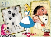 Moldura Alice In Wonderland