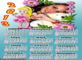 Calendário Pequena Alice 2013