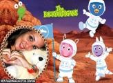Moldura Backardigans em Marte