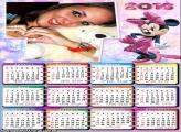 Calendário Minnie Cor de Rosa 2016