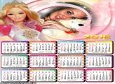 Calendário Boneca Barbie 2016