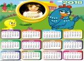 Calendário 2018 Desenho da Galinha Pintadinha