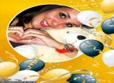 Moldura Balões Dourados e Preto