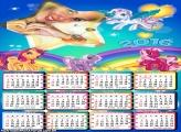 Calendário Estrela Póneis Coloridos 2016