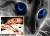 Moldura Gato Olhos Azuis