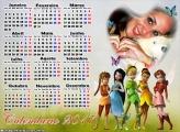 Calendário 2017 Tinker bell e o Segredo das Fadas