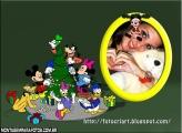Moldura Árvore Natal Disney