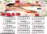Calendário Lindas Rosas 2013