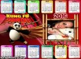 Calendário Kung Fu Panda Filme 2016 Horizontal
