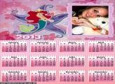 Calendário Desenho Ariel 2013
