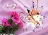 I Love You Estrela Rosas
