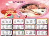 Calendário Desenho da Moranguinho 2016